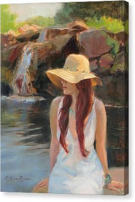 Cascades Study Canvas Print by Anna Rose Bain