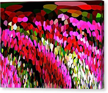 Cascading  Colorburst Waterfall Abstract Canvas Print by Saundra Myles