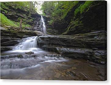 Cascading Falls Canvas Print by Phil Abrams