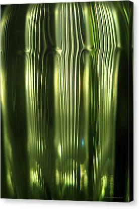 Cascading Green Canvas Print by Leena Pekkalainen