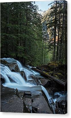 Cascading Mountain Falls Canvas Print by Mike Reid