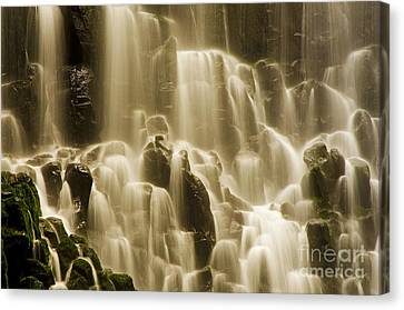 Canvas Print featuring the photograph Cascading by Nick  Boren