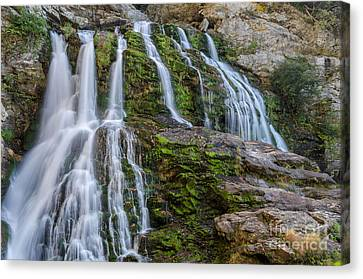 Silk Water Canvas Print - Cascading Waters by Anthony Heflin