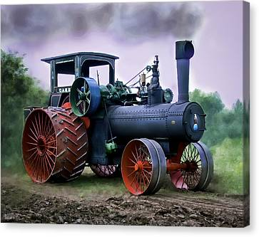 Case 110hp Steam Tractor Canvas Print by F Leblanc