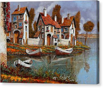 Case A Cerchio Canvas Print by Guido Borelli