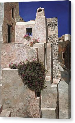 I Ask Canvas Print - case a Santorini by Guido Borelli