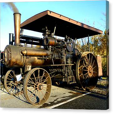 Case Steam Tractor Canvas Print by Pete Trenholm