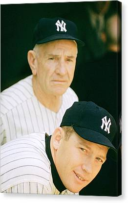 Casey Stengel And Mickey Mantle Canvas Print