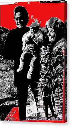 Canvas Print featuring the photograph Cash Family In Red Old Tucson Arizona 1971-2008 by David Lee Guss