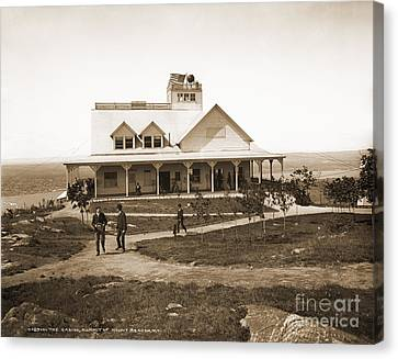 Casino At The Top Of Mt Beacon In Black And White Canvas Print