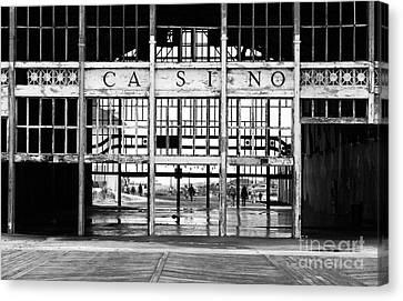 Asbury Park Casino Canvas Print - Casino Entrance by John Rizzuto