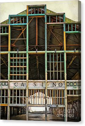 Asbury Park Casino Canvas Print - Casino In Multi-color by Colleen Kammerer