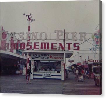 Casino Pier Amusements Seaside Heights Nj Canvas Print