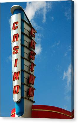 Casino Sign Canvas Print by Norman Pogson