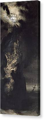 Gothic Poster Canvas Print - Casquets Lighthouse by Victor Hugo