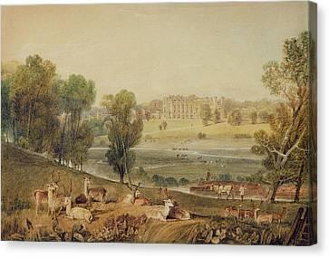 Manor Canvas Print - Cassiobury Park, Hertfordshire by William Havell
