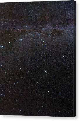 Andromeda Canvas Print - Cassiopeia Constellation And Andromeda by Eckhard Slawik