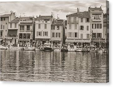 Cassis - French Town - Toned Canvas Print by Georgia Fowler