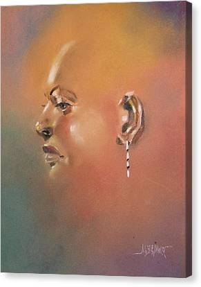 Canvas Print featuring the painting Cast Reflectionn 1 by Al Brown