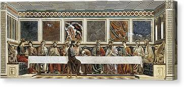 Last Supper Canvas Print - Castagno, Andrea Del 1423-1457. Last by Everett