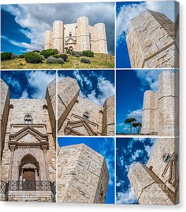 Castel Del Monte Collage Canvas Print