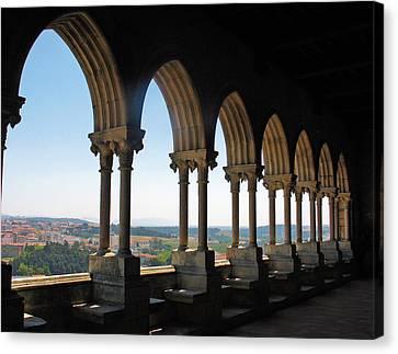 Canvas Print featuring the photograph Castel Leiria by Gerry Bates
