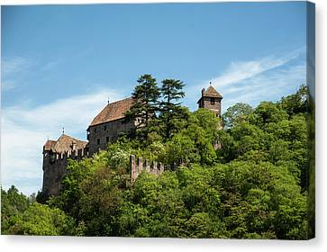 Castel Runkelstein Sitting Atop A Hill Canvas Print
