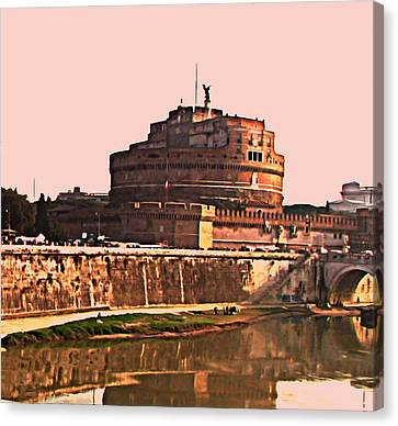 Canvas Print featuring the photograph Castel Sant 'angelo by Brian Reaves