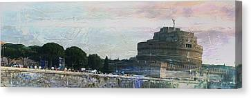 Canvas Print featuring the painting Castel Sant'angelo     by Brian Reaves