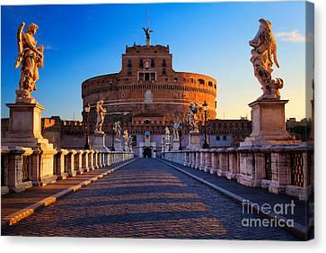 Castel Sant'angelo Canvas Print by Inge Johnsson