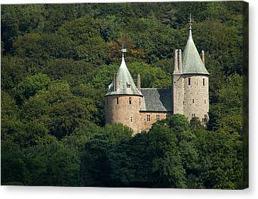 Canvas Print featuring the photograph Castell Coch by Jeremy Voisey