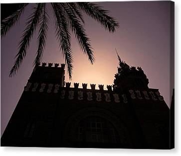Castell Dels Tres Dragons ... Canvas Print by Juergen Weiss