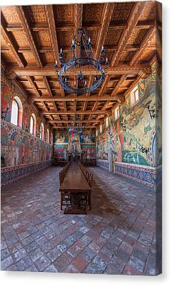 Ready For The Red Wine Wedding Castelle Di Amorosa Canvas Print by Scott Campbell