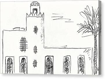 Castillo Bil Bil In Benalmadena  Canvas Print