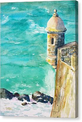 Castillo De San Cristobal Ocean Sentry  Canvas Print by Carlin Blahnik