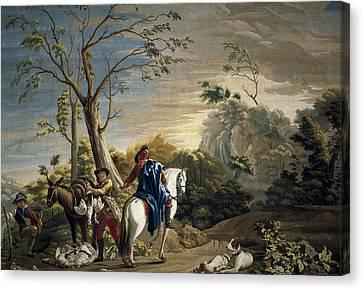 Castillo, Jos� Del 1737-1793. Bird Canvas Print by Everett