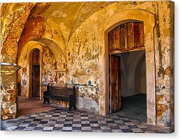 Castillo San Felipe Canvas Print - Castillo San Felipe Del Morro 1 by Mitch Cat