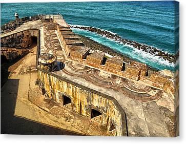 Castillo San Felipe Canvas Print - Castillo San Felipe Del Morro 2 by Mitch Cat