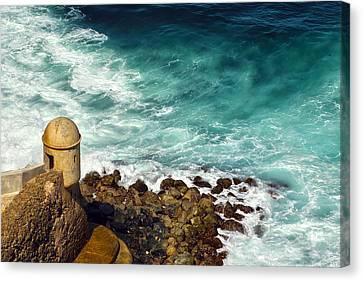 Castillo San Felipe Canvas Print - Castillo San Felipe Del Morro  by Mitch Cat