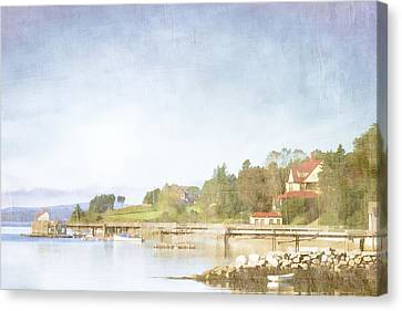 Castine Harbor Maine Canvas Print by Carol Leigh