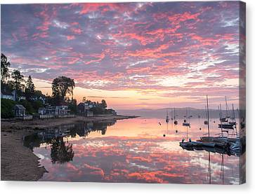 Castine Waterfront Canvas Print by Martin Radigan