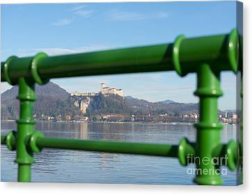 Castle And Banister Canvas Print by Mats Silvan