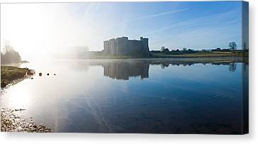 Castle At The Waterfront, Carew Castle Canvas Print