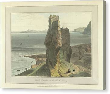 Castle Broichin On The Isle Of Rasay Canvas Print by British Library