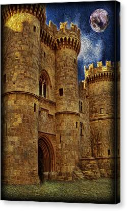 Castle By Moonlight Canvas Print by Lee Dos Santos