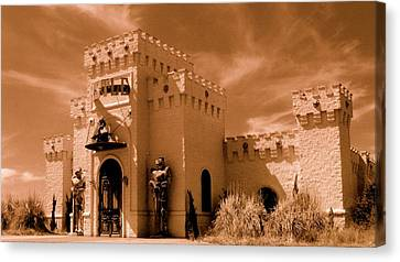 Canvas Print featuring the photograph Castle By The Road by Rodney Lee Williams