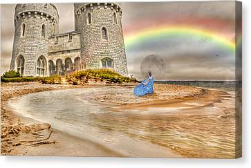 Castle By The Sea Canvas Print