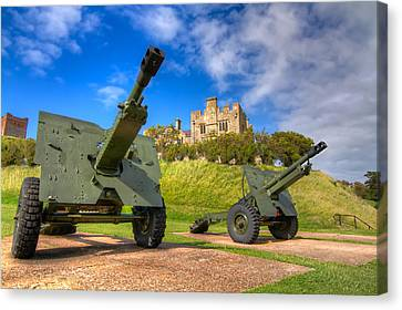 Canvas Print featuring the photograph Castle Cannons by Tim Stanley