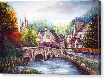 Castle Combe Canvas Print by Ann Marie Bone