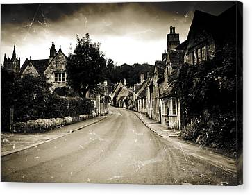 Canvas Print featuring the photograph Castle Combe  by Stewart Scott